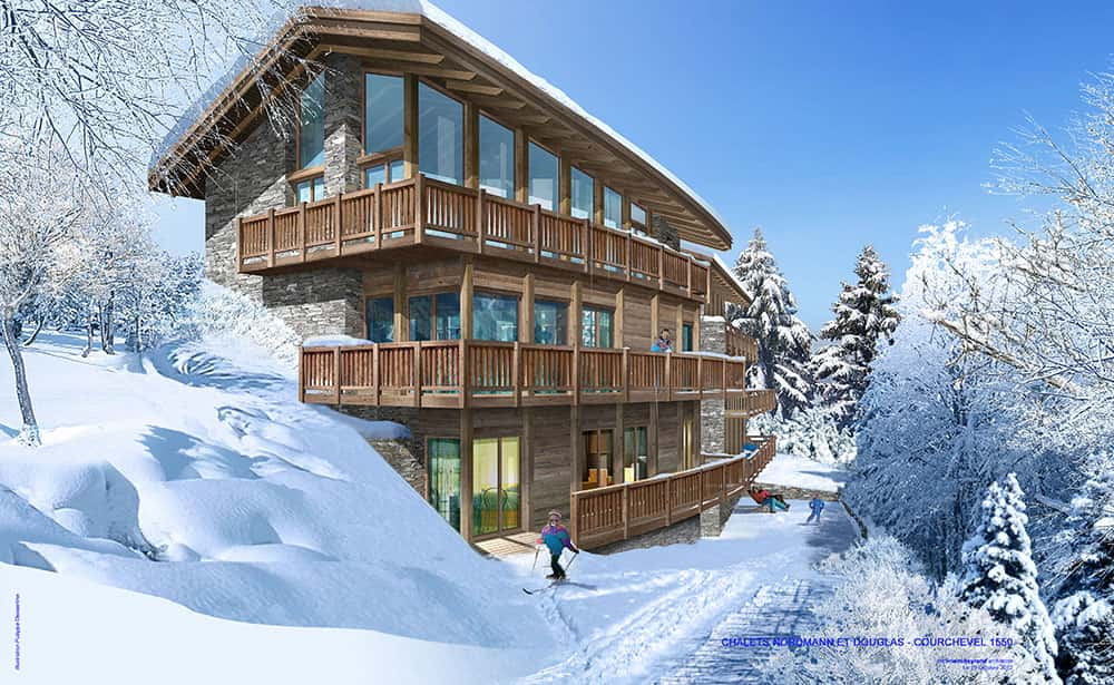 Chalets nordman douglas courchevel savoie ms for Architecte courchevel